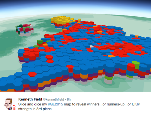 The Two Winners And Two Losers Of The UK Elections Visualising Data - Simpons us map vs real voters map